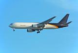 boeing 767 cargo jet delivering mail poster