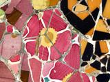 flower mosaic background texture poster