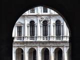 italian architecture in bergamo poster