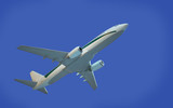 aircraft model on blue background poster