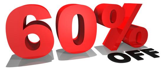 60% off 3d text