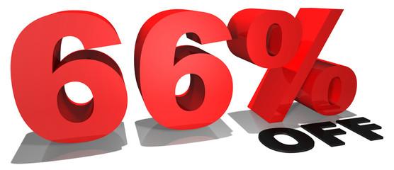 66% off 3d text