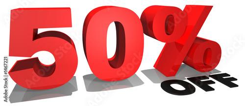 50% off 3d text