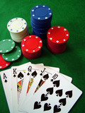 poker cards and casino chips poster