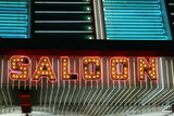 saloon neon lights poster