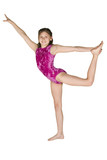 10 year old girl in gymnastics poses poster