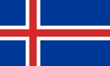 island iceland fahne flag poster