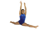 13 year old girl in gymnastics poses poster