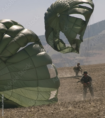 Leinwandbild Motiv army paratroops