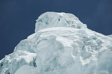 glacier in the mountain