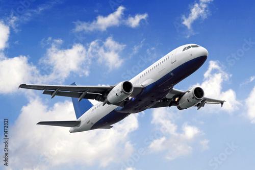 Deurstickers Vliegtuig aeroplane