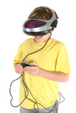 playing in virtual reality poster