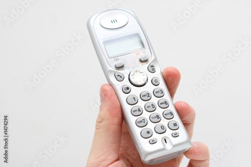 modern phone in hand