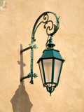 old decorative streetlamp in italy poster