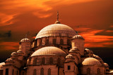 mosque sunset poster