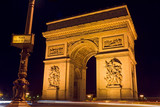 arc de triomphe and street plate poster