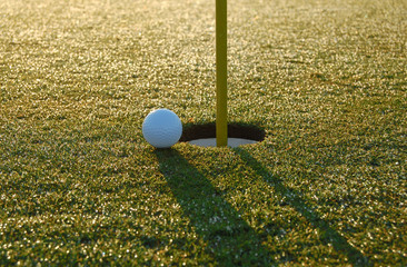 close golf shot
