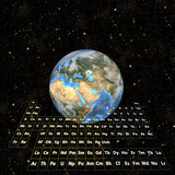 periodictable-earth, eastern hemisphere poster