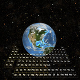 periodictable - earth in space-western hemisphere poster