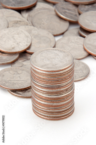 stacking quarters