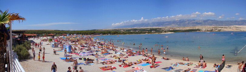 zrce beach in croatia panorama
