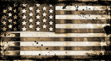 grunge stars and stripes poster