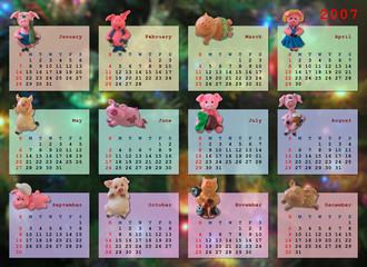 calendar on 2007 year