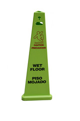 bilingual wet floor sign