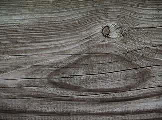 old weathered wood with knot
