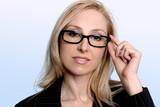 intelligent professional businesswoman poster