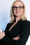confident businesswoman poster