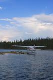 docked float plane poster