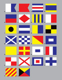 maritime signal flags poster