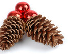 christmas pine cones poster