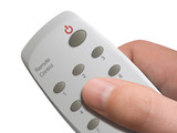 remote control in hand poster