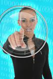 futuristic woman poster