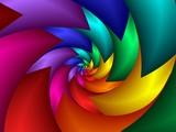 spiked rainbow spiral - 1489099