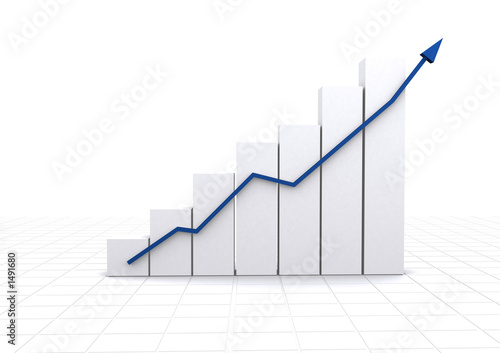 business statistics - white graph