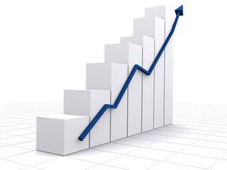 business statistics in white