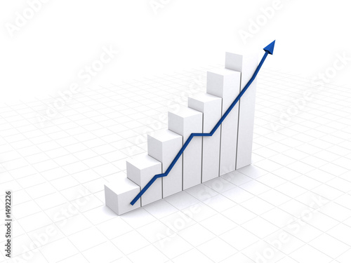 business white graph