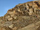 rocky landscape - bare stone wall poster