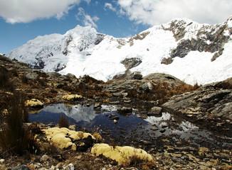beautiful lake in the mountain