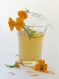 marigold herbal tea poster