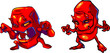 cartoon devils