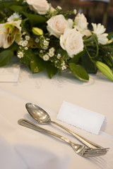 wedding table with placecard