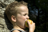 eating an apple -2 poster