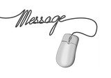 computer mouse with wording message poster