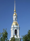 historic clock tower landmark in russia poster