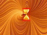 golden  abstract time poster