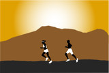 jogging silhouettes poster